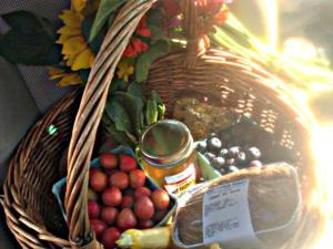 Basket of goodies from my local farmers' market