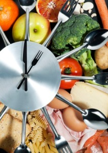 Clock made wih food