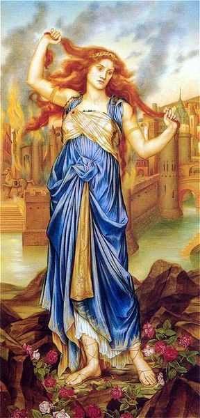 Cassandra by Evelyn De Morgan (1898, London)