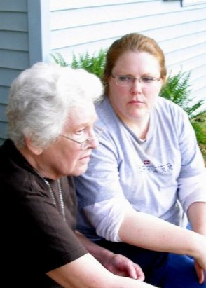 Aunt Jo and me in 2012, near my most obese