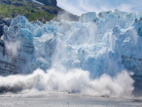 Glacier calving, Glacier National Park, AK