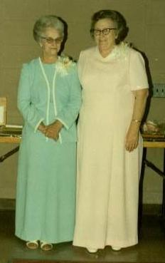 The woman on the left is my cousins' maternal grandmother, Mrs. McCrary. The woman on the right is my grandmother Ruby Carson. She was amazing.