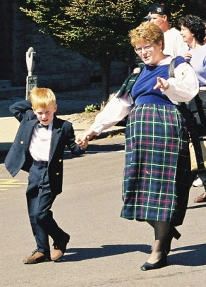 Circa 1999,wearing a dress too tight, as hirt too big and holding the hand of a boy that was just right.