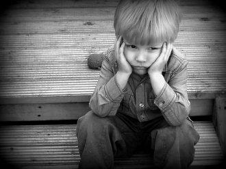 sulking boy