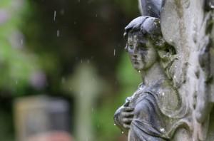 Victorian+Cemetery+angel+rain